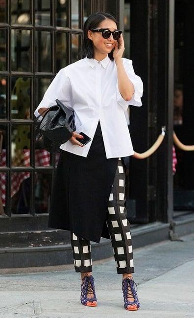 как можно модно носить белую рубашку - модная белая рубашка стильные образы