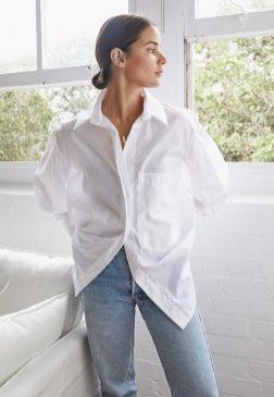 модная белая рубашка 2020