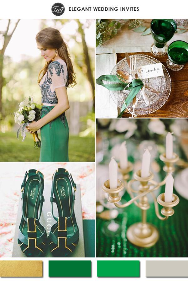 2015-vintage-emerald-and-gold-metallic-wedding-color-ideas