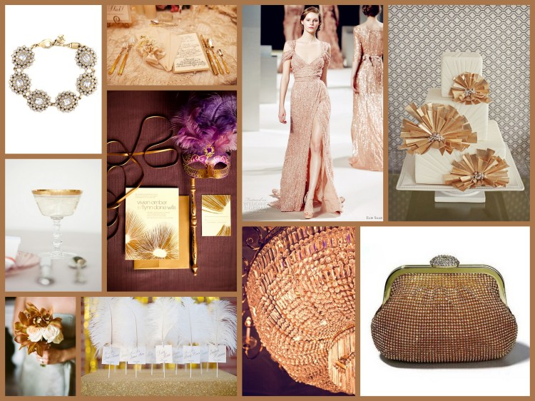 Gold color for wedding