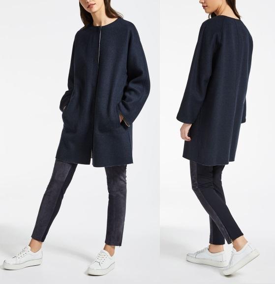 шерстяное пальто Пальто Max Mara 2017 темное