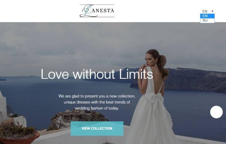 не итальянские свадебные платья - Ланеста