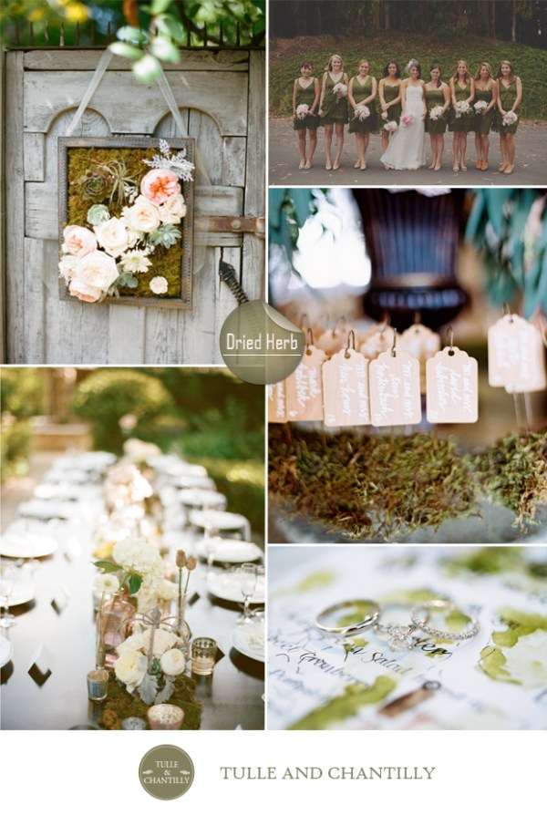 dried herb green wedding color ideas fall 2015 pantone