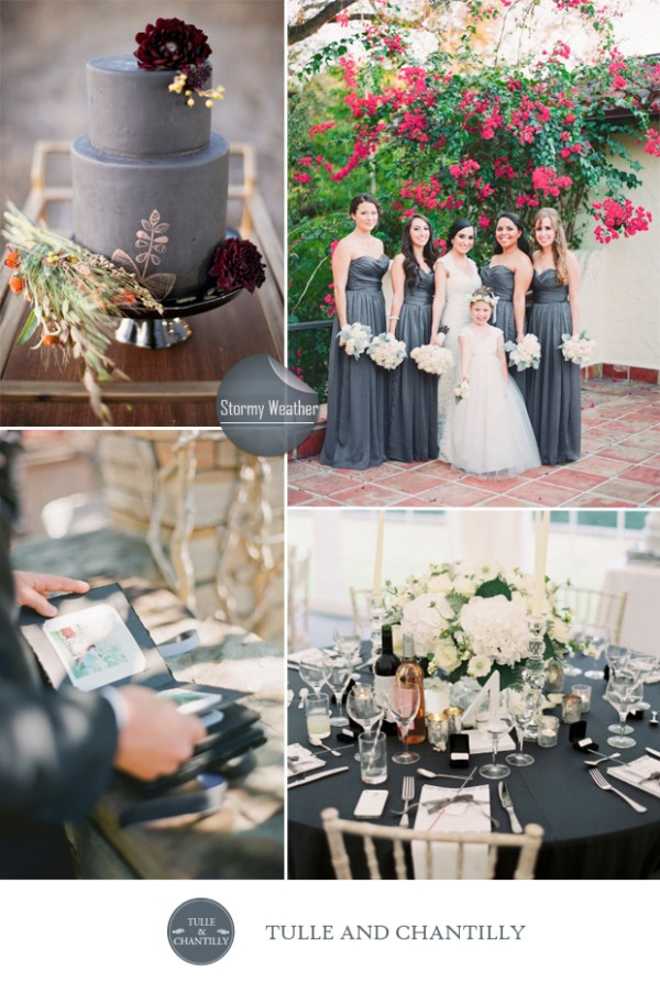 grey stormy weather wedding color ideas fall 2015 pantone