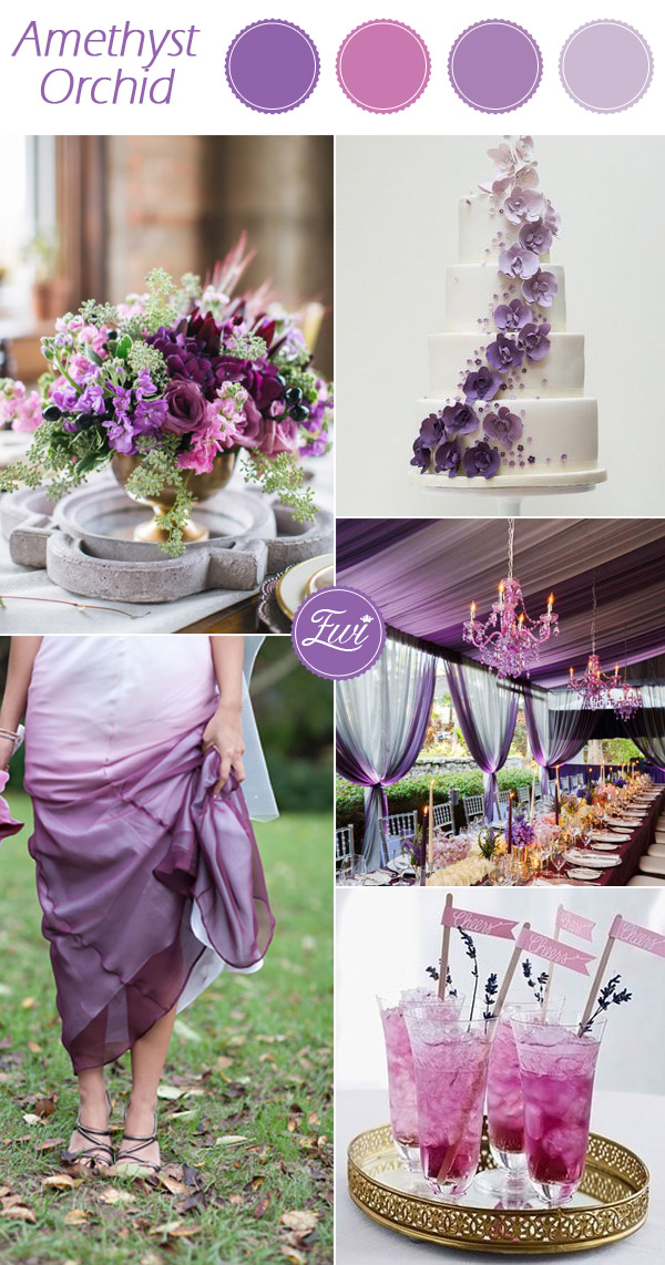 wedding color ideas fall 2015 pantone amethyst orchid