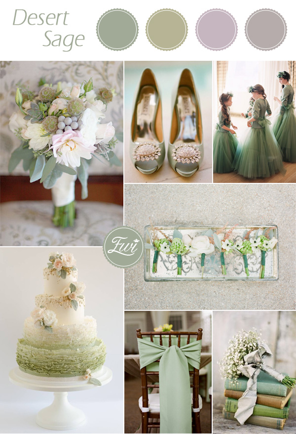 wedding color palettes desert sage green fall 2015