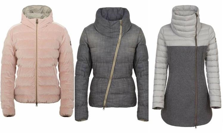 Самые модные в Милане пуховики из велюра и шерсти Пуховики Colmar коллекция Зима 2015-2016