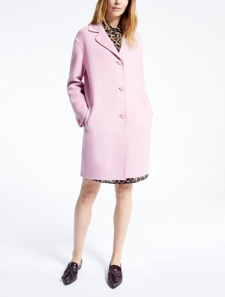 пальто из шерсти Макс Мара розовое