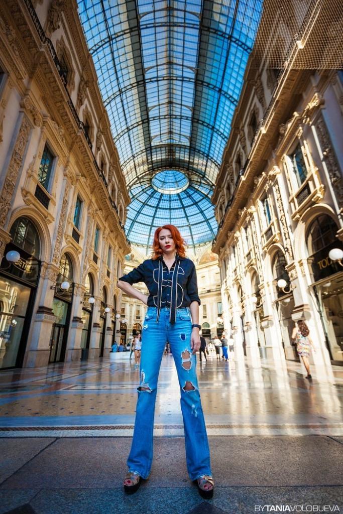 stilist Milan -shopping v Milane