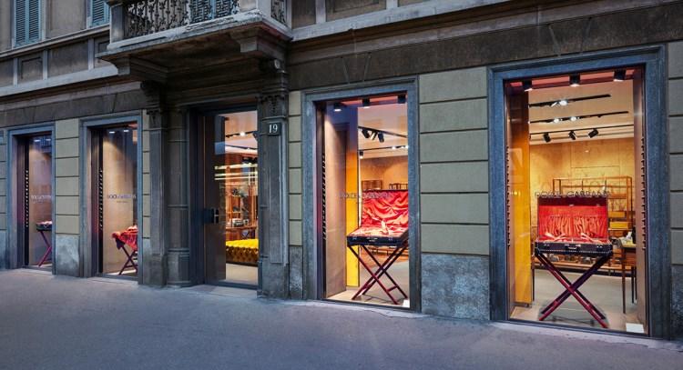 бутик dolce&gabbana в милане corso Venezia