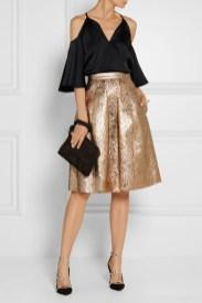 блестящая юбка осень 2016 oscar-della-renta