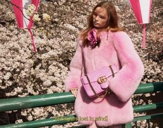 самые модные итальянские шубы розовая шуба Gucci