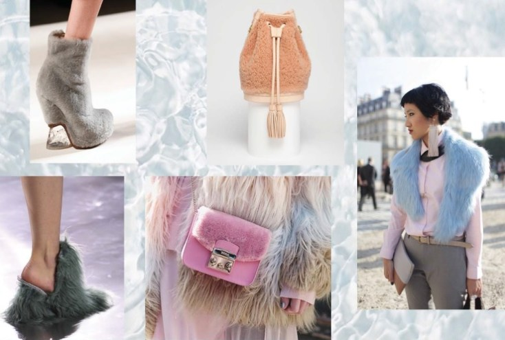 модный тренд меха и шубы - пастель