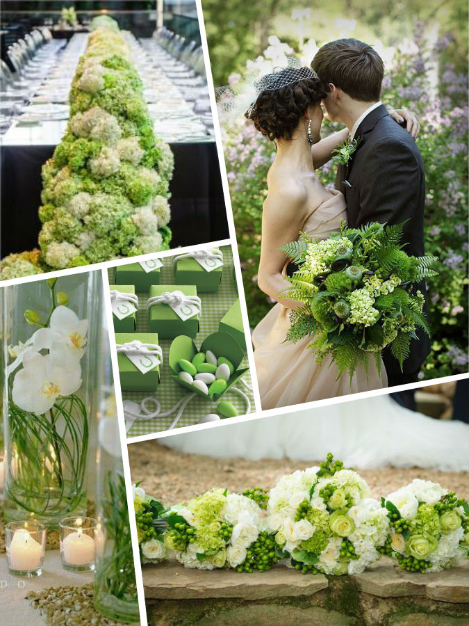Greenary color wedding Pantone 2017