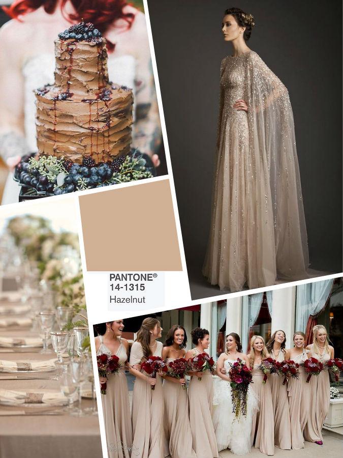 Hazelnut color wedding 2017