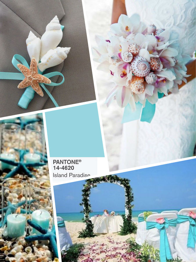 PANTONE 14-4620 Island Paradise wedding color