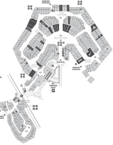 карта магазинов аутлета Сенрравалле Италия