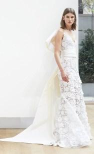 кружевное свадебное платье Oscar de la Renta Spring 2018
