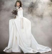свадебное платье пышная юбка Vera Wang Spring 2018 длинный рукав