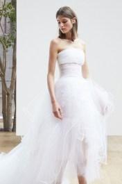 укороченное свадебное платье Oscar de la Renta Spring 2018