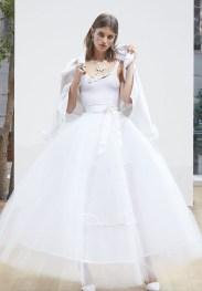 модное и оригинальное платье боди и юбка Oscar de la Renta Spring 2018