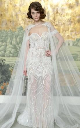 свадебное платье с кейпом Idan Cohen 2018
