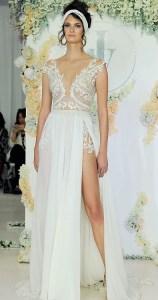 свадебное платье с разрезом 2018 Juli Vino