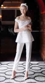 Lela Rose Bridal 2018 свадебный наряд с брюками