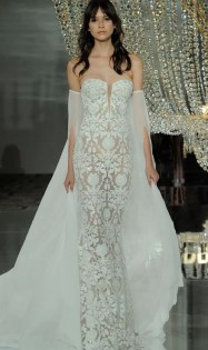 свадебное платье 2018 тенденции - свадебное платье 2018 Pronovias модная тенденция рукав