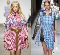 летнее платье в клетку Vichy