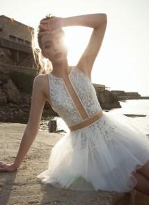 очень красивое короткое свадебное платье