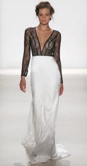 свадебное платье с черным лифом Kelly Faetanini 2018