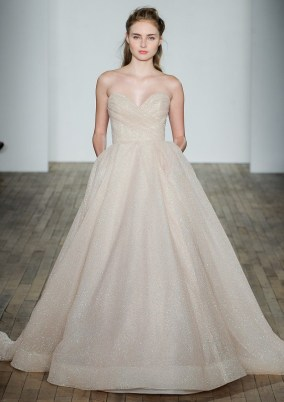 Lazaro блестящее свадебное платье 2018