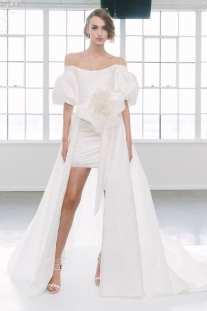 тенденция 2018 короткое свадебное платье Marchesa