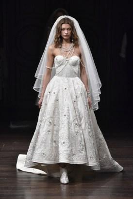 укороченное сваденое платье Naeem Khan Bridal 2018