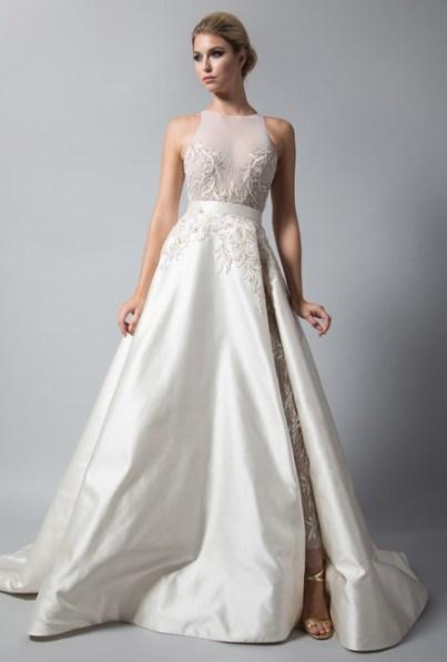 свадебное платье с американской проймой 2018Randi Rahm