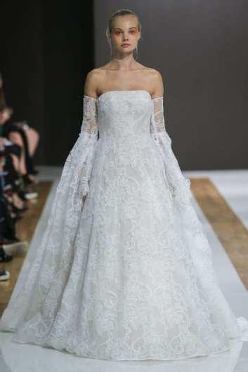 Mark Zunino свадебное платье с пышными руковами 2018