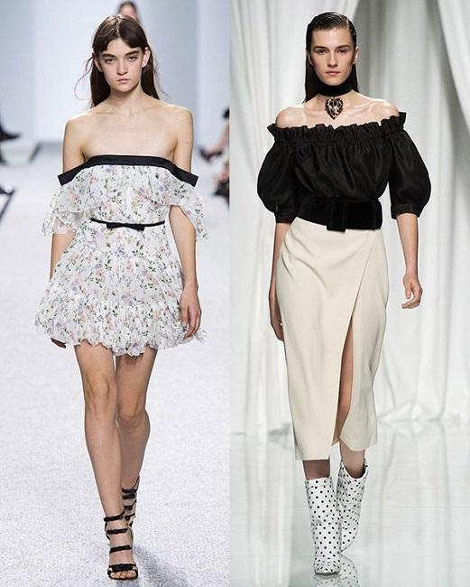 модный тренд 2017 голые плечи