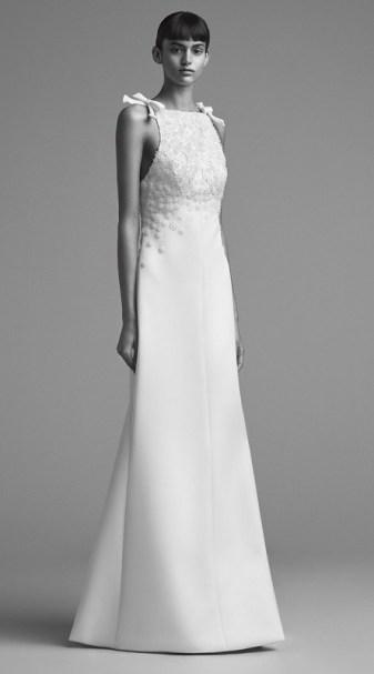 свадебное платье с американской проймой 2018 Viktor &Rolf