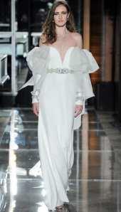 Reem Acra свадебное платье с пышными руковами 2018