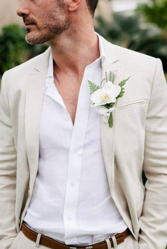 костюм жениха пляжная свадьба
