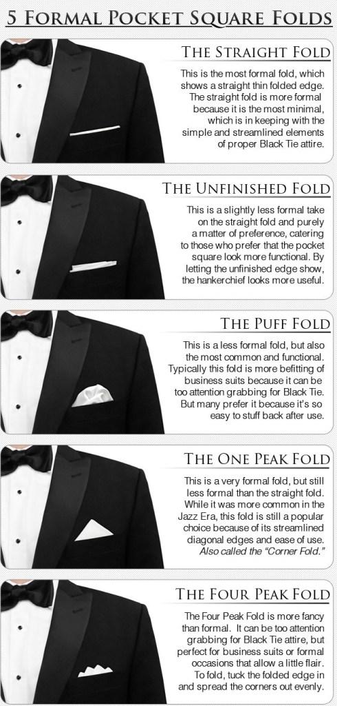 как сложить платок для нагрудного кармана