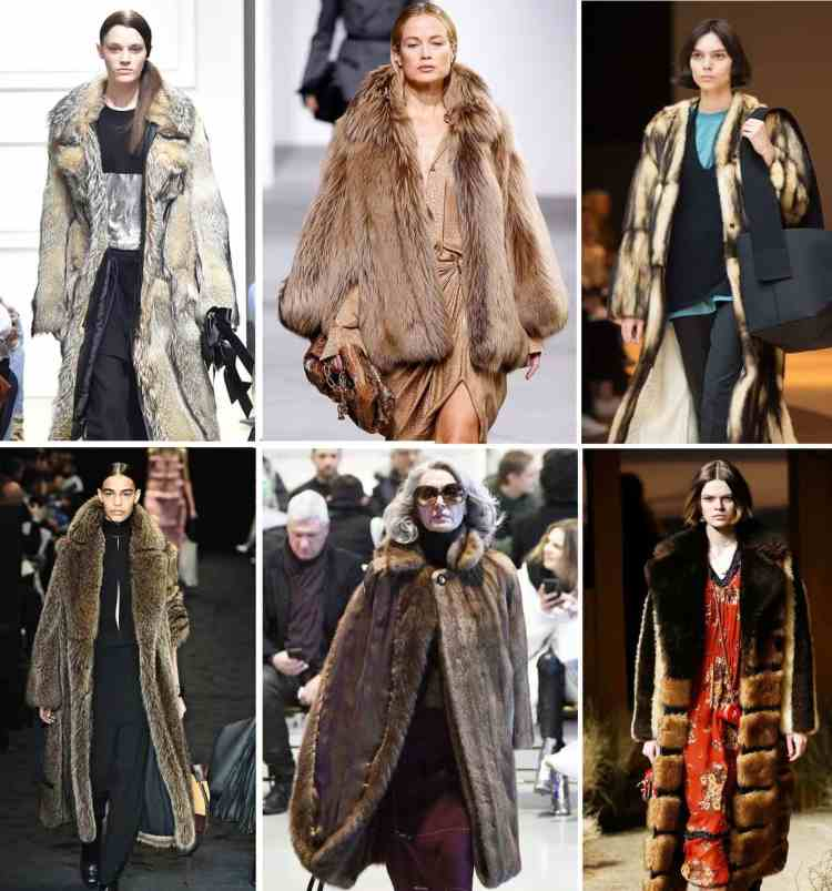 модная шуба коричневая тренд зима 2018