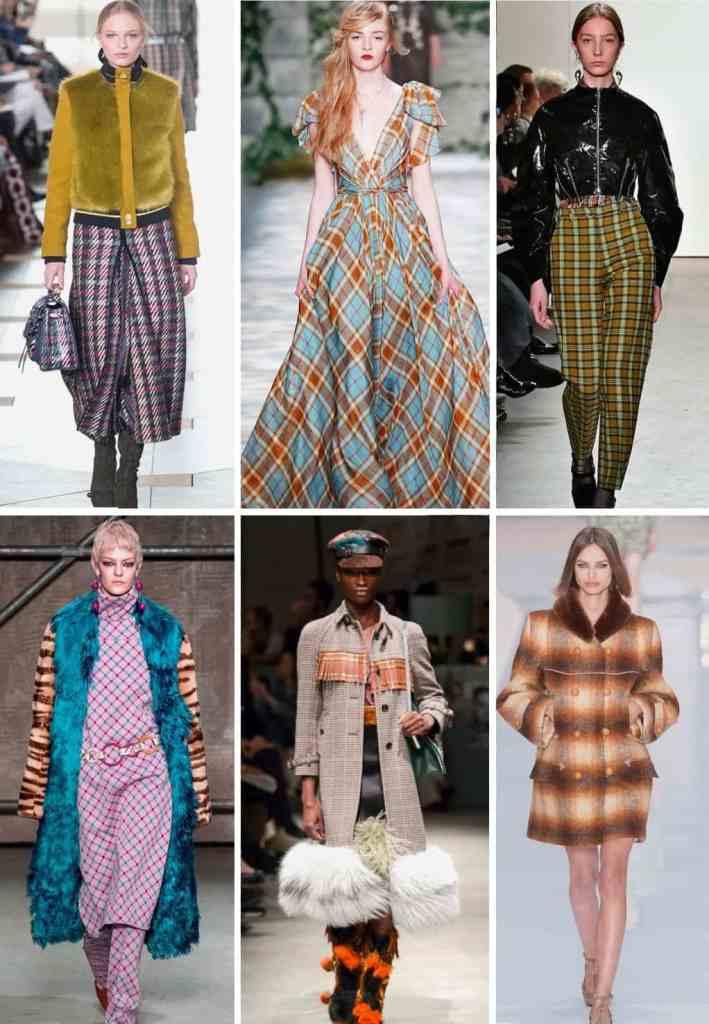 модный тренд осень и зима 2018 17 - клетка