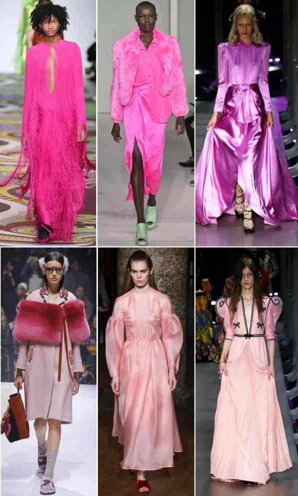 модные тенденции осень 2017 розовый цвет