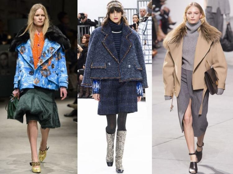 модные короткие пальто осень 2017 шанель