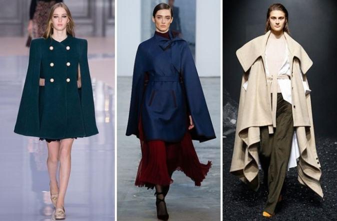 модные кейпы осень 2017