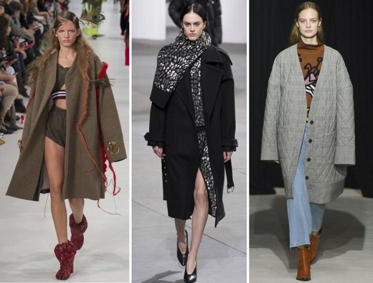 модные пальто осень 2017 оверсайз