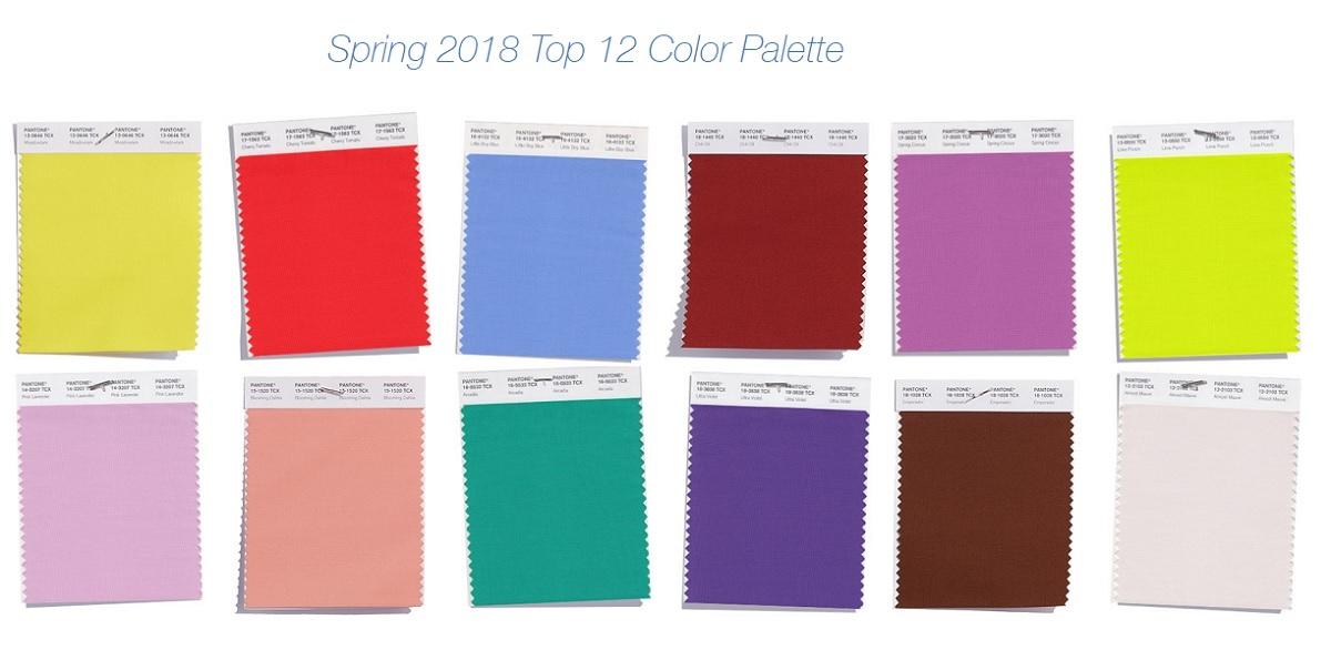 Самые модные цвета весна-лето 2018 — PANTONE Fashion Color Report Spring 2018