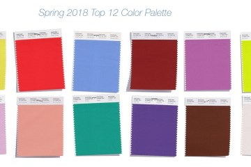 Pantone palette spring 2018